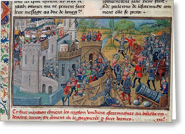 Capture Of A Bastion At Troyes Greeting Card