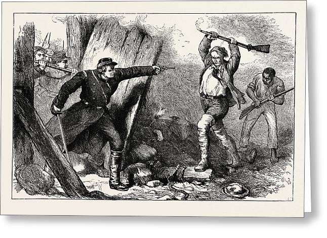 Capture Of John Brown In The Engine House Greeting Card by American School