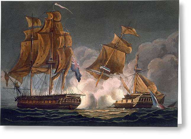 Capture Of La Tribune Greeting Card by Thomas Whitcombe