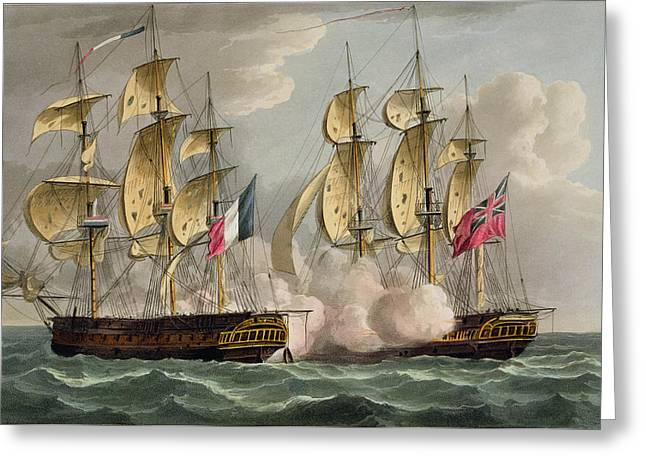 Capture Of Limmortalite Greeting Card by Thomas Whitcombe