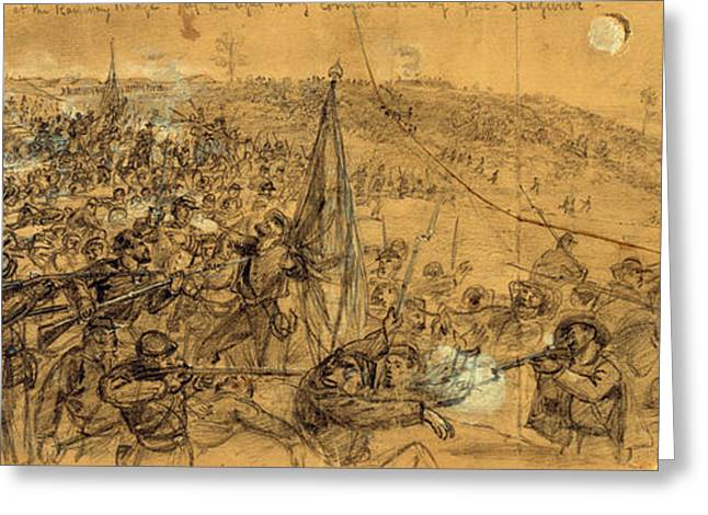 Capture Of The Fortifications On The Rappahannock Greeting Card