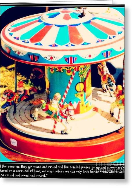 Captured On The Carousel Of Time Greeting Card