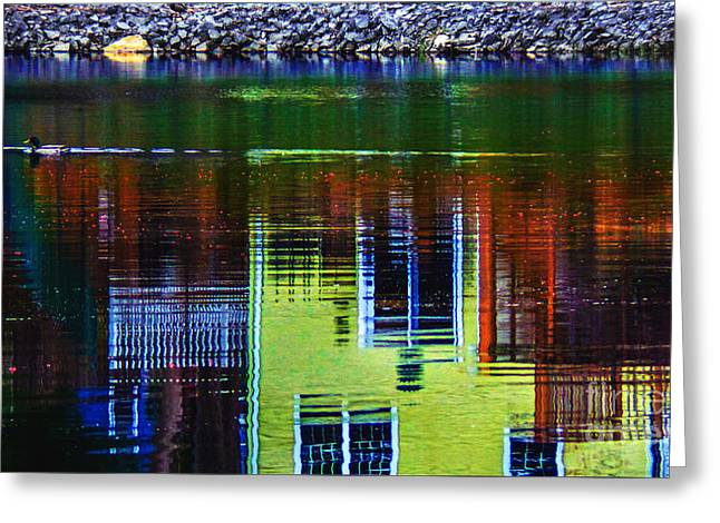 New England Landscape Illusion Greeting Card