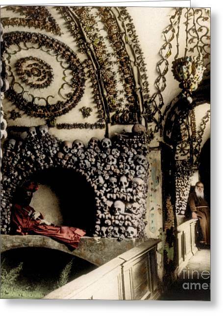 Capuchin Catacombs 1897 Greeting Card by Science Source