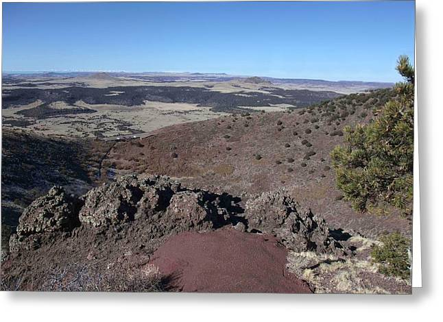 Capulin Volcano  Greeting Card by Stephen Schaps