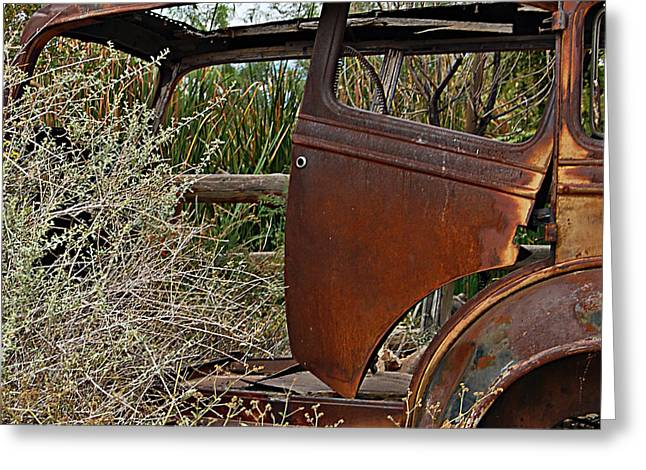 Greeting Card featuring the photograph Car-cass by Lee Craig