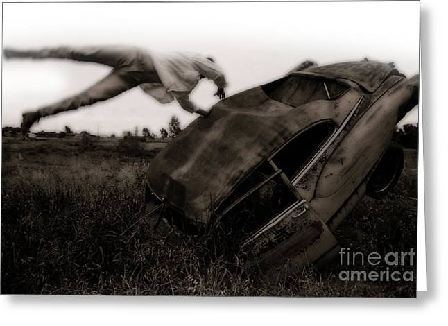 Car Crash - 03 Greeting Card by Gregory Dyer