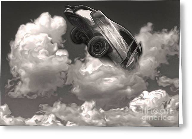 Car Crash In The Clouds Greeting Card by Gregory Dyer