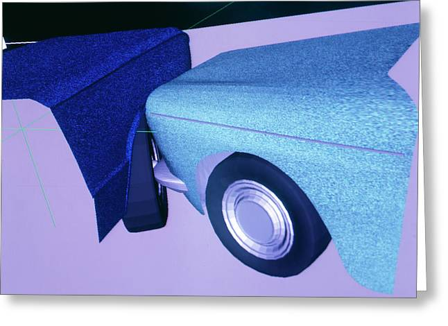 Car Crash Reconstruction Greeting Card by Mauro Fermariello/science Photo Library