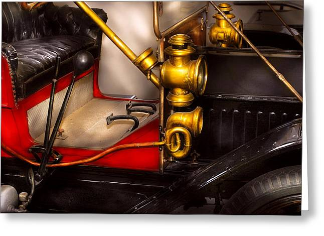 Car - Model T Ford  Greeting Card by Mike Savad