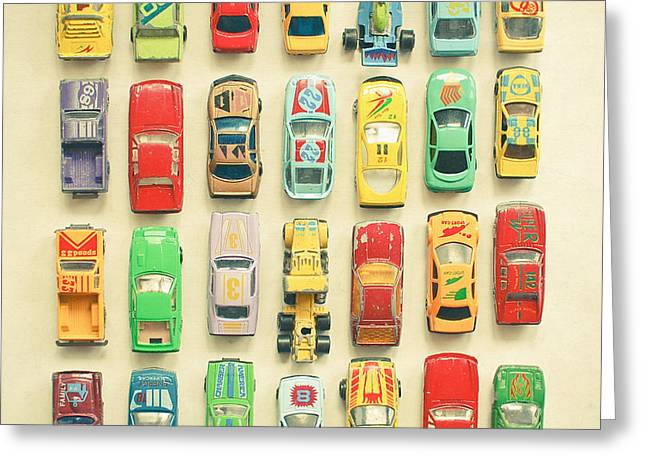 Car Park Greeting Card by Cassia Beck
