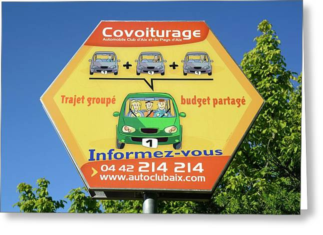 Car Share Advert Greeting Card by Chris Hellier