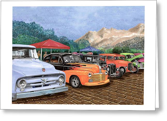 Silver City Car Show And Shine Greeting Card