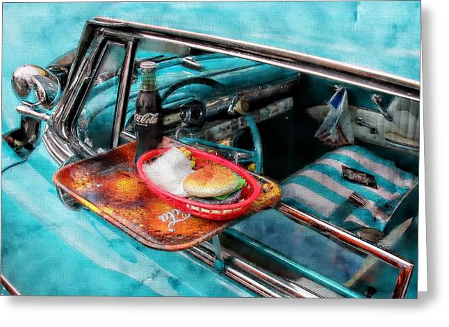 Vehicles Greeting Card featuring the photograph Car Side  by Aaron Berg