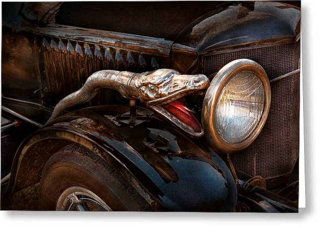 Car - Steamer - Snake Charmer  Greeting Card by Mike Savad