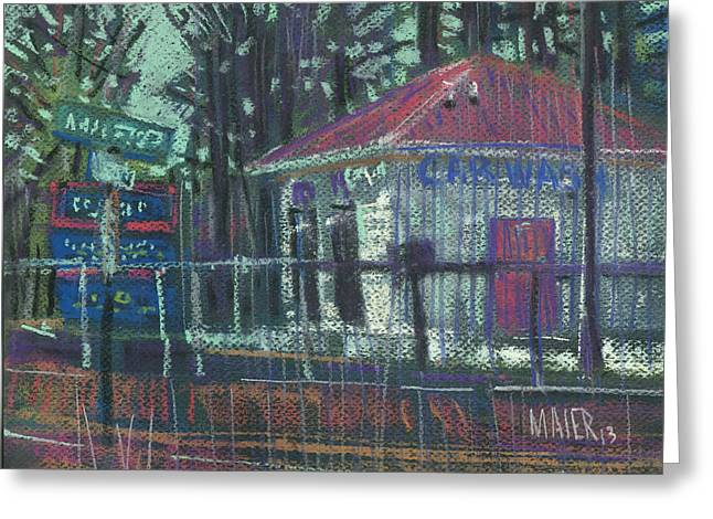 Car Wash Greeting Card by Donald Maier