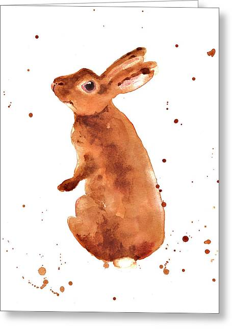 Caramella Bunny Greeting Card by Alison Fennell