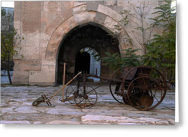 Caravanserais Central Courtyard - Anatolia Greeting Card by Jacqueline M Lewis