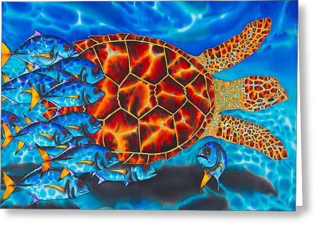 Carbbean Sea Turtle Greeting Card