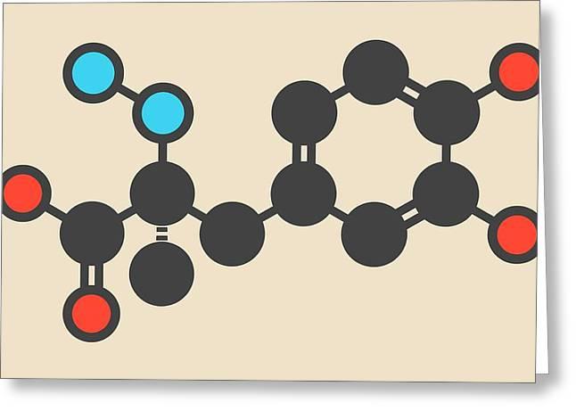 Carbidopa Parkinson's Drug Molecule Greeting Card