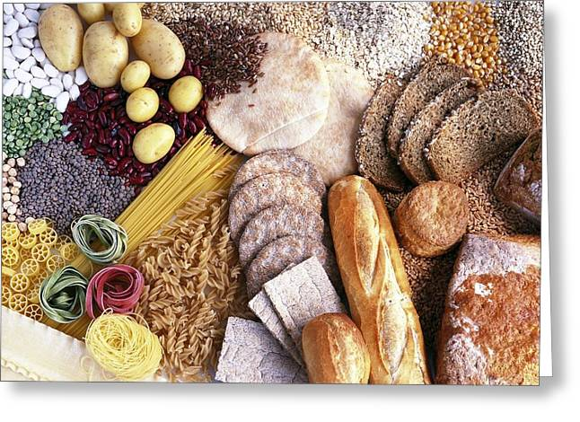 Carbohydrate-containing Foods Greeting Card