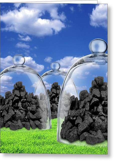 Carbon Capture And Storage Greeting Card by Victor De Schwanberg