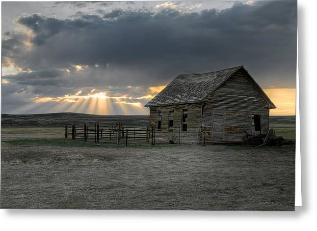 Carbon County Cabin Greeting Card by Leland D Howard