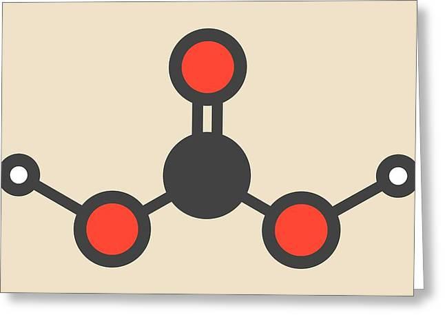 Carbonic Acid Molecule Greeting Card