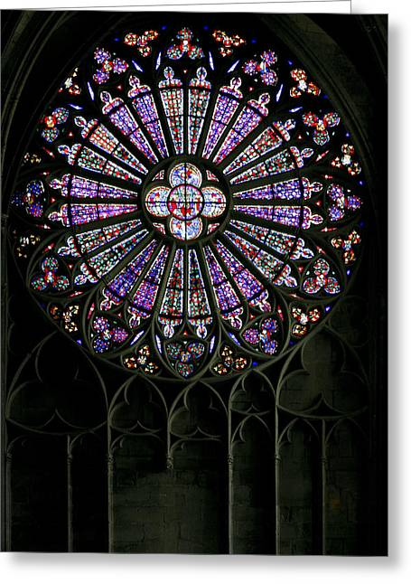 Carcassonne Rose Window Greeting Card