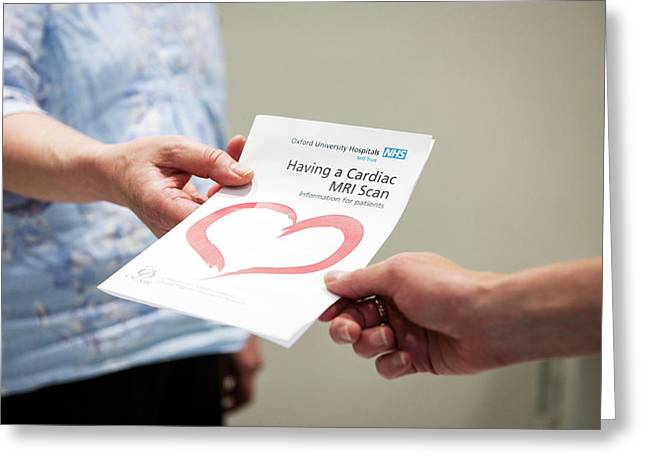 Cardiac Mri Pamphlet Greeting Card by John Cairns Photography/oxford University Images