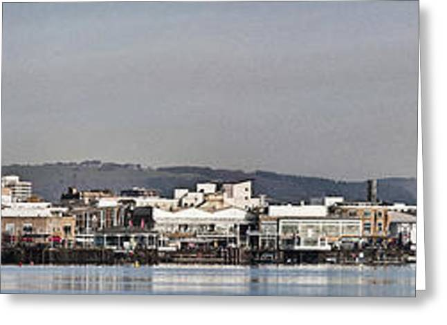 Cardiff Bay Panorama 2 Greeting Card by Steve Purnell