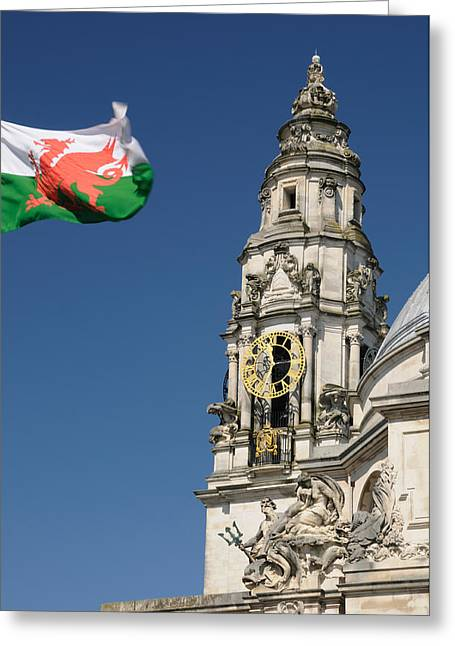 Cardiff City Hall Greeting Card by Jeremy Voisey
