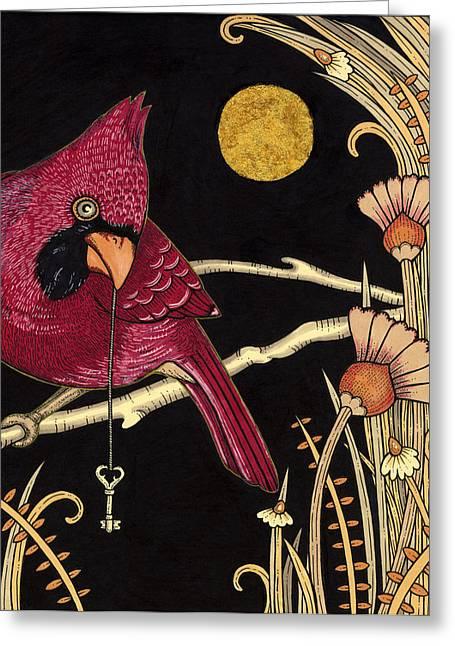 Cardinal Greeting Card by Anita Inverarity