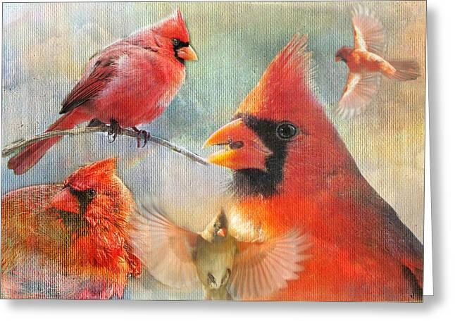 Cardinal Delights Greeting Card