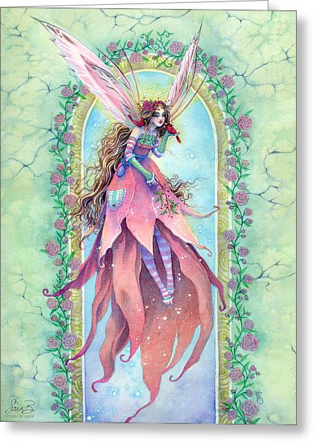 Cardinal Fairy Greeting Card by Sara Burrier