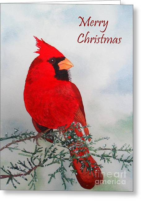Cardinal Merry Christmas Greeting Card