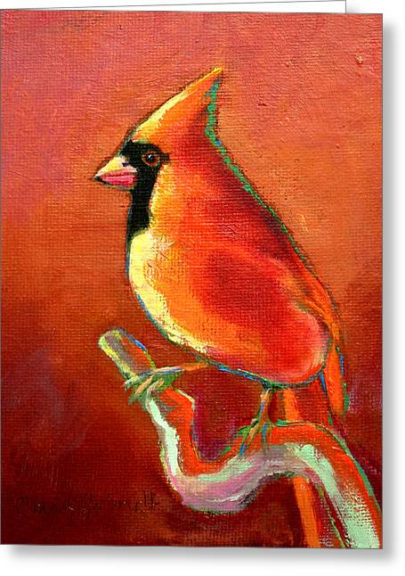 Cardinal On Red Greeting Card