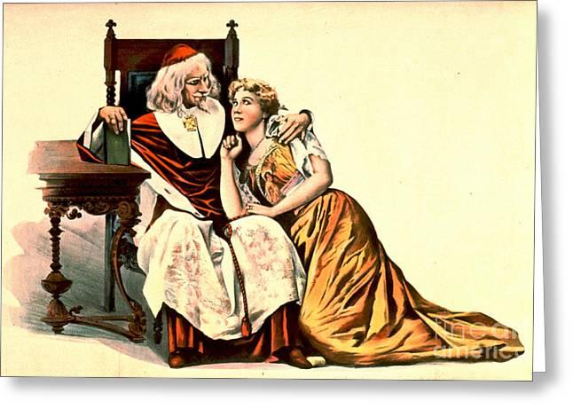 Cardinal Richelieu And Julie 1894 Greeting Card