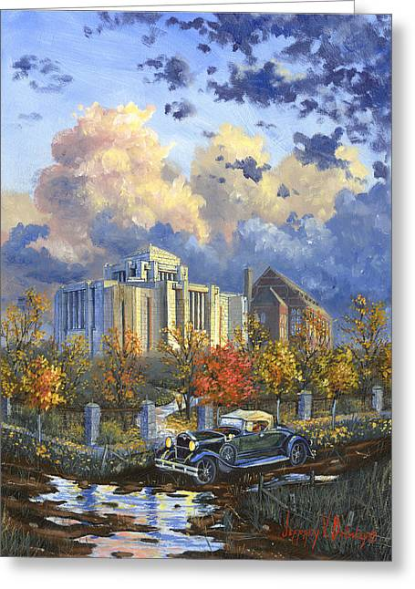 Cardston Alberta Canada Temple Greeting Card by Jeff Brimley