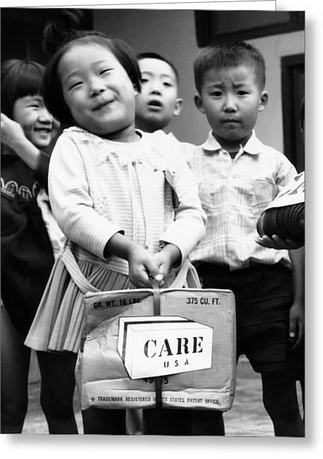 Care Package Brings Smile Greeting Card