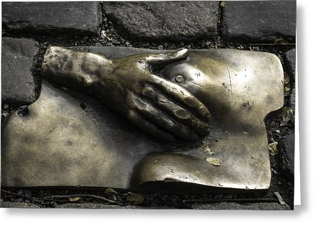 Caress Bronze Relief Amsterdam Greeting Card