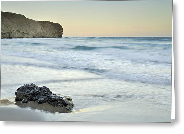Caresses By The Sea Greeting Card by Guido Montanes Castillo