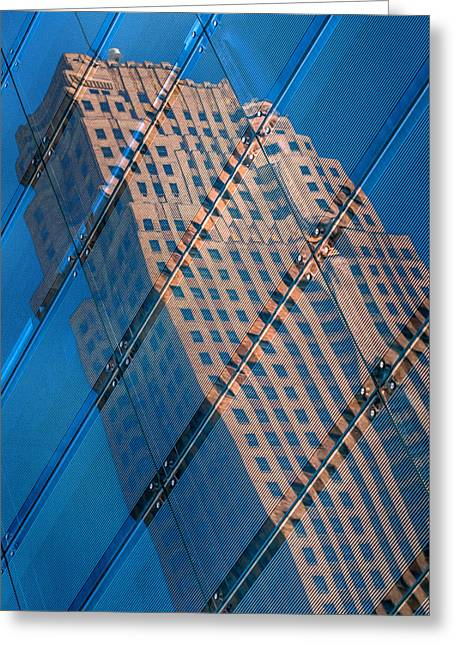 Carew Tower Reflection Greeting Card