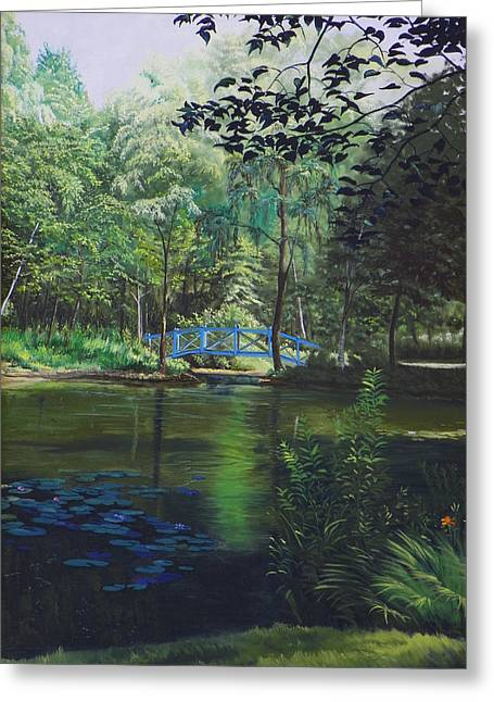 Carey's Pond Greeting Card by Kenneth Young