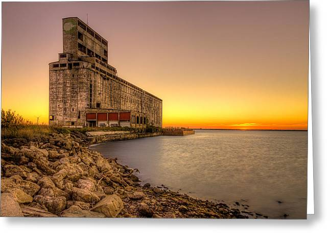 Cargill Pool Elevator Twilight Greeting Card