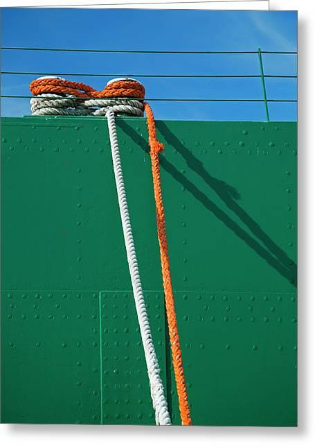 Cargo Ship Mooring Line Greeting Card