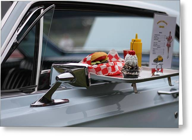 Carhop Greeting Card by Dan Sproul