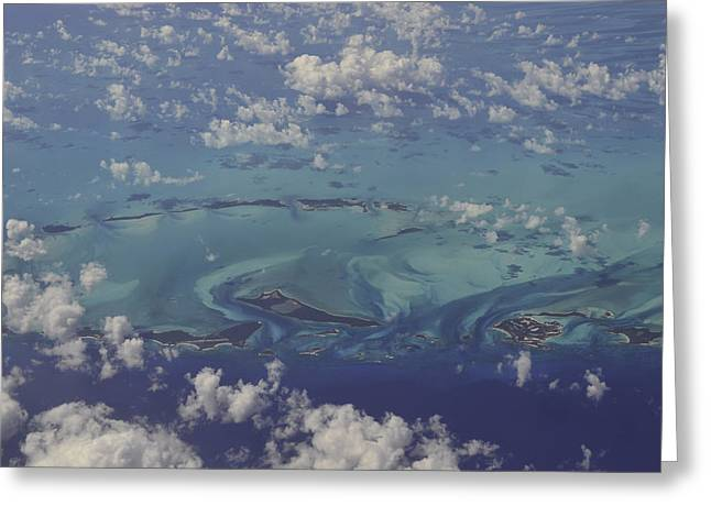 Caribbean Aerial 3 Greeting Card