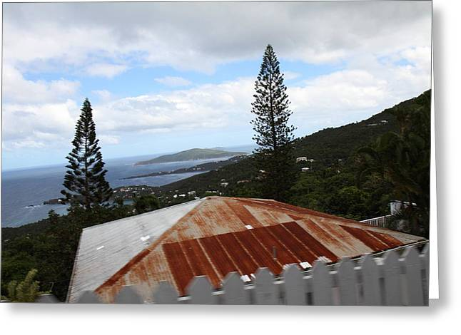 Caribbean Cruise - St Thomas - 1212193 Greeting Card by DC Photographer