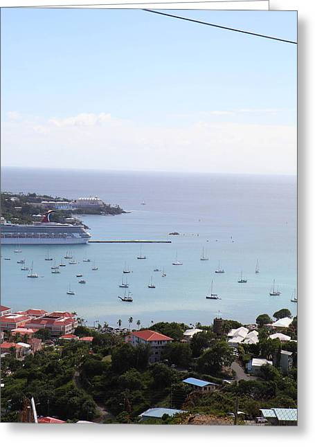 Caribbean Cruise - St Thomas - 1212283 Greeting Card by DC Photographer